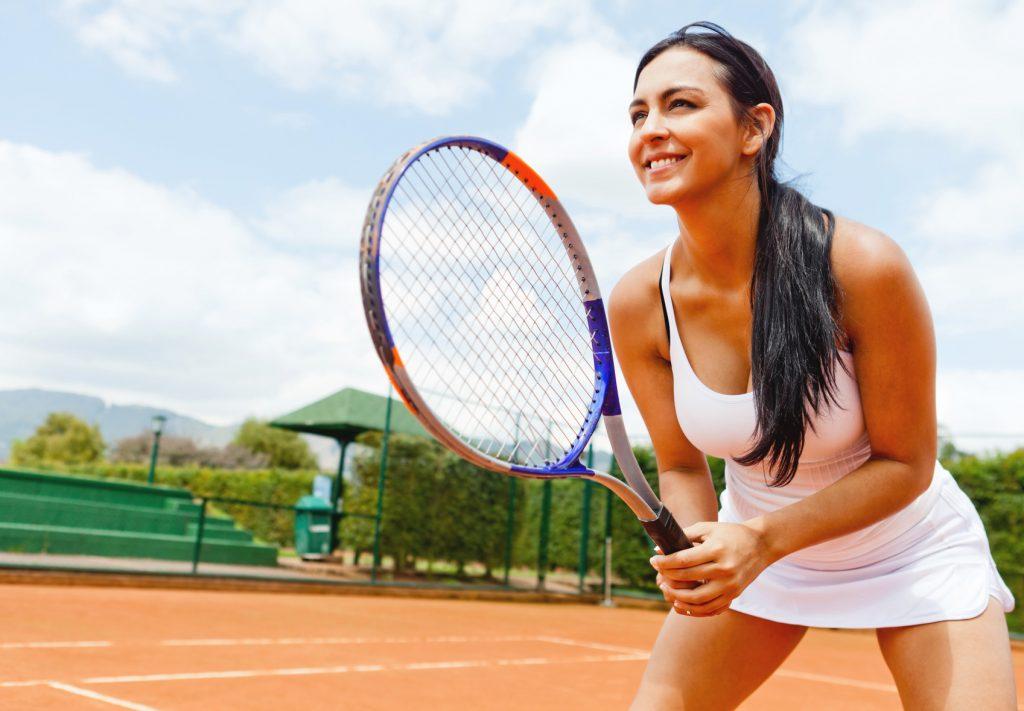 tennissen vrouw