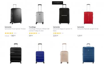 Travelbags en koffers koop je online